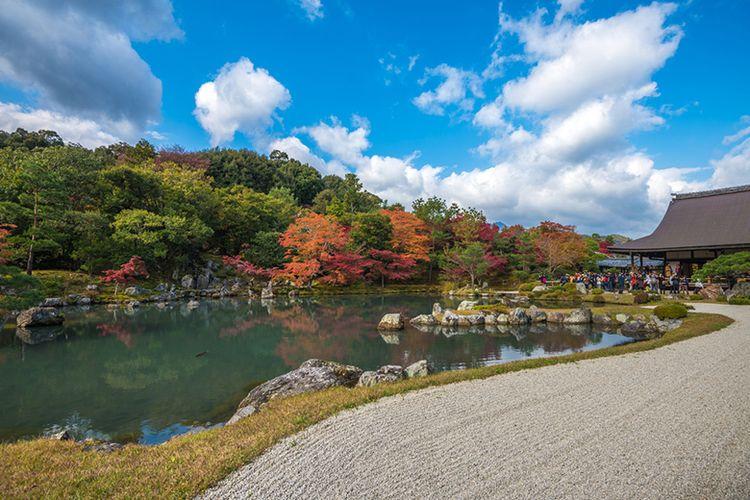 Kuil Tenryu-ji di Arashiyama, Kyoto.