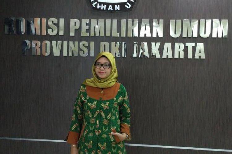 Komisioner KPUD DKI Jakarta Dahliah Umar di kantor KPUD DKI Jakarta, Jumat (27/1/2017).