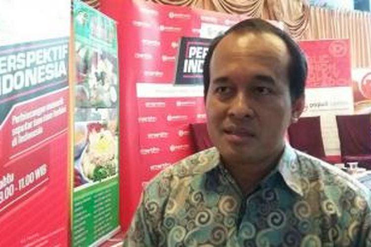Direktur Populi Center Nico Harjanto di Jakarta, Sabtu (5/12/2015)