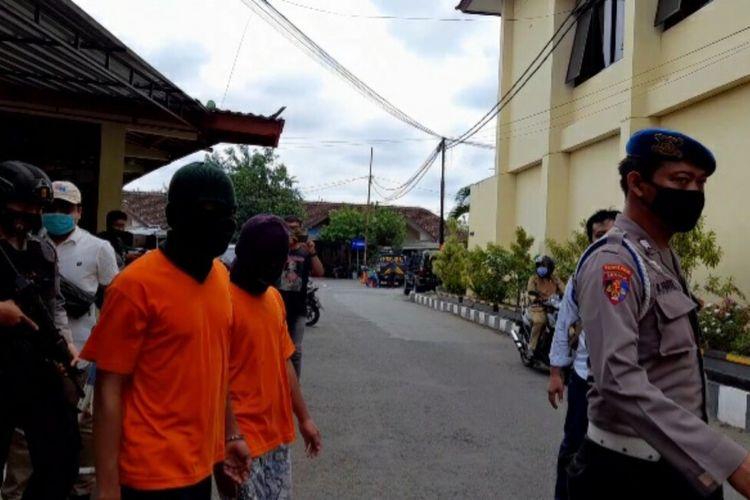 Para Tersangka Narkoba di Mapolres Gunungkidul Senin (19/10/2020)