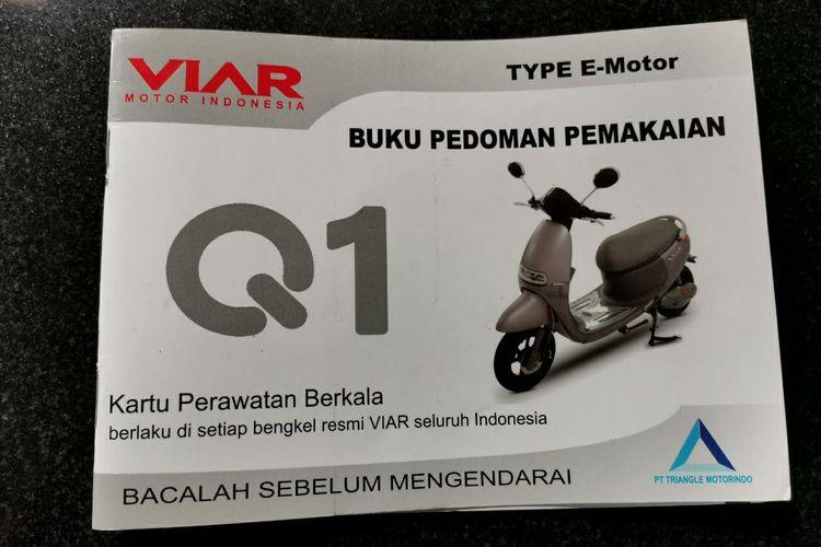 Buku servis motor listrik Viar Q1