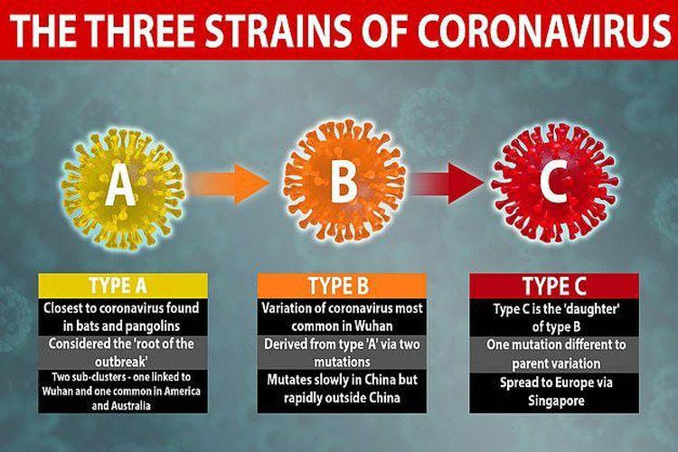 Mutasi varian virus corona SARS-CoV-2 penyebab Covid-19