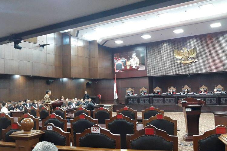 Sidang uji materi UU KPK di Gedung Mahkamah Konstitusi, Jakarta Pusat, Rabu (19/2/2020).