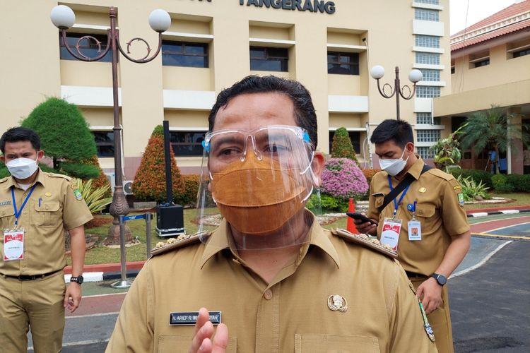 Wali Kota Tangerang Arief R Wismansyah saat ditemui di Pusat Pemerintahan Kota (Puspemkot) Tangerang, Banten, Selasa (15/6/2021).