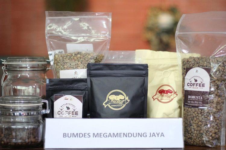 Produk Kopi yang dihasilkan para pelaku UMKM di Desa Megamendung