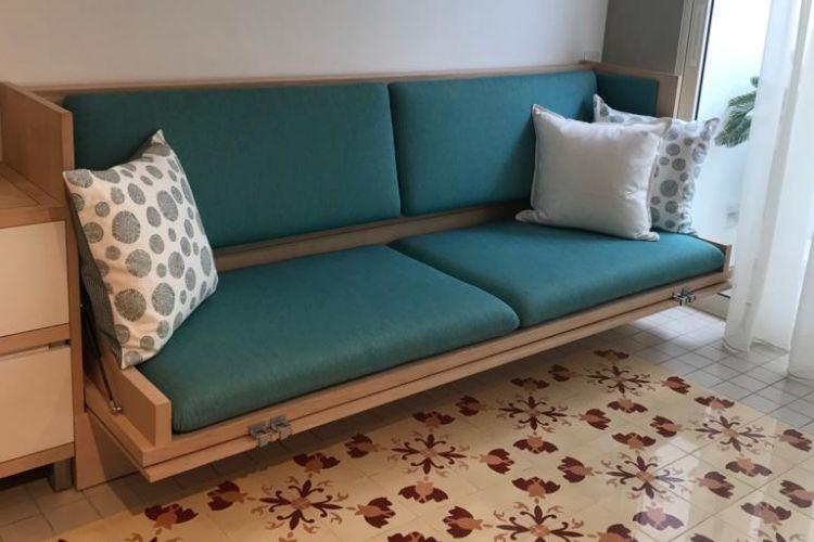 Ilustrasi sofa yang bisa dilipat.