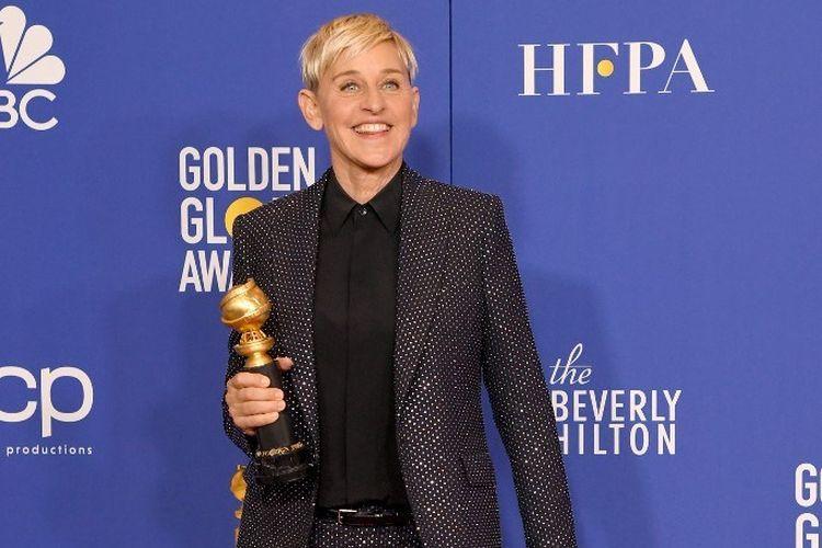Pembawa acara Ellen DeGeneres memenangi Carol Burnett Award di ajang Golden Globe Awards di The Beverly Hilton Hotel, Beverly Hills, California, pada 5 Januari 2020.