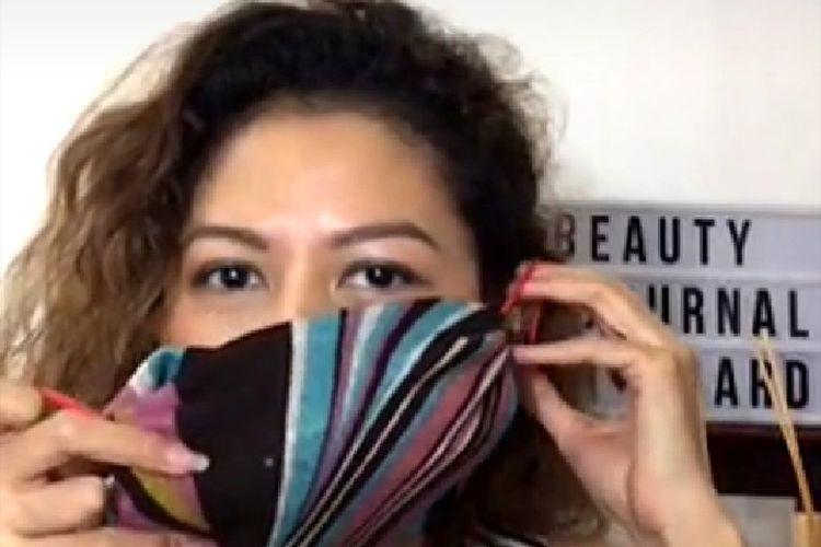 Masker kain yang bisa dibuat sendiri di rumah.