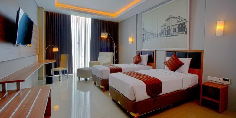 Salah satu ruangan di Pasar Baru Square Hotel di Bandung, Jawa Barat.
