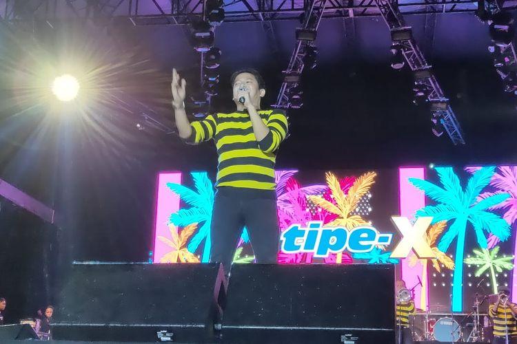 Band Tipe-X tampil dalam festival Big Bang Jakarta pada 21 Desember 2019.