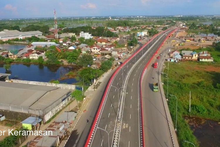 Flyover Keramasan di Kota Palembang yang diresmikan pada Selasa (5/6/2018).
