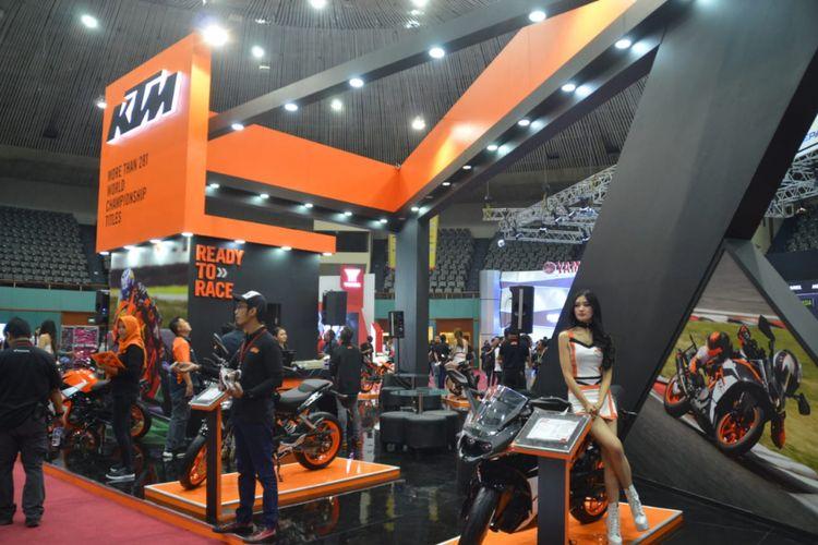 KTM tampil di IMOS 2018.