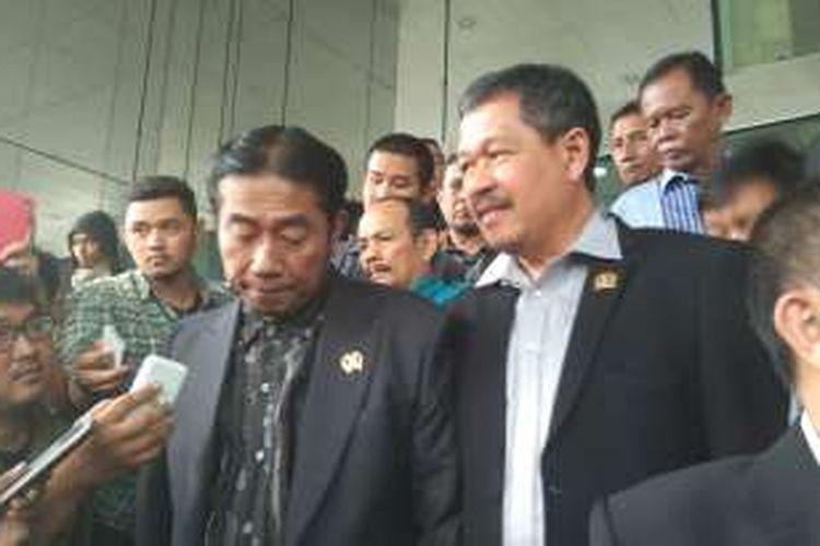 Wakil Ketua DPRD DKI Abraham Lunggana ketika mendatangi Gedung KPK, Jalan Rasuna Said, Rabu (17/2/2016).