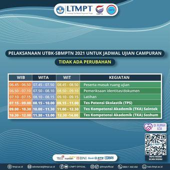 Penyesuaian Jadwal UTBK 2021