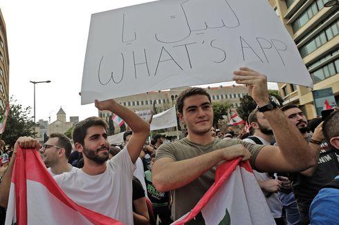 Pemerintah Berencana Berlakukan Pajak WhatsApp, Warga Lebanon Gelar Unjuk Rasa