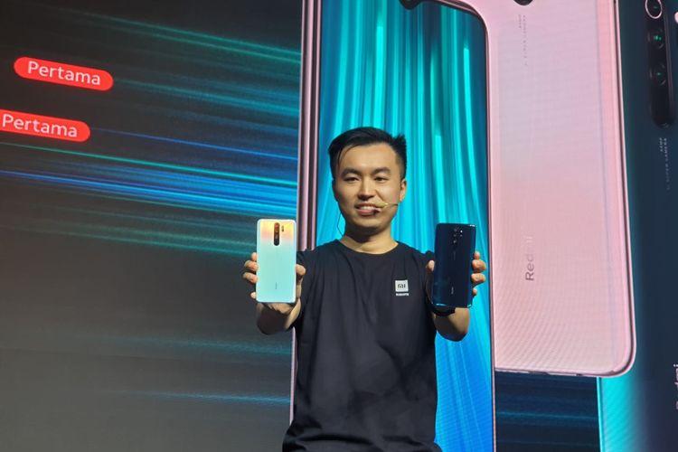 Country Director Xiaomi Indonesia Alvin Tse saat memperkenalkan duo Redmi Note 8 dan Redmi Note 8 Pro dalam acara peluncurannya di Jakarta, Kamis (17/10/2019).