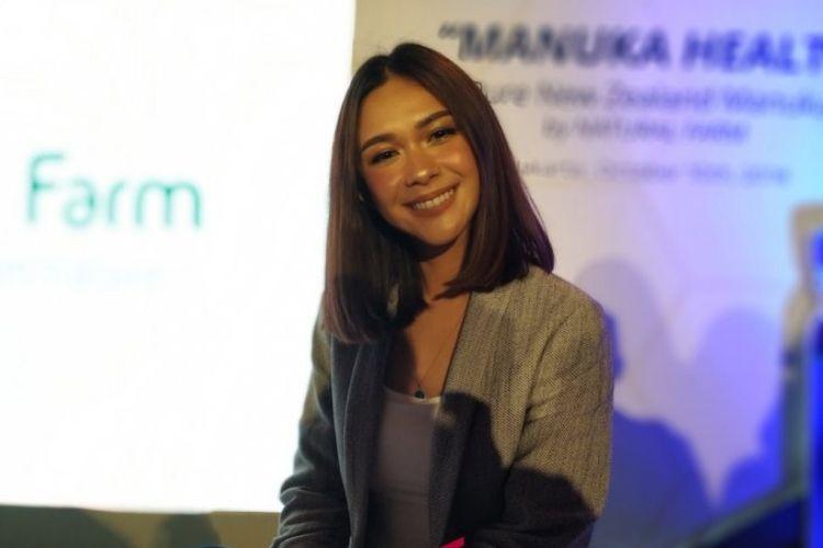 Nana Mirdad saat ditemui dalam acara Manuka Health di Jakarta, Rabu (10/10/2018).