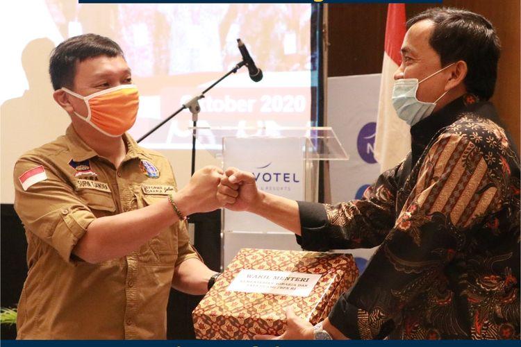 Wakil Menteri Agraria dan Tata Ruang/Wakil Kepala Badan Pertanahan Nasional (ATR/BPN) Surya Tjandra dalam kegiatan Rapat Fasilitasi Penyelesaian Permasalahan Pertanahan Transmigrasi, Dinas Tenaga Kerja dan Transmigrasi Provinsi Sulawesi Selatan, di Novotel, Makassar, Kamis (15/10/2020).