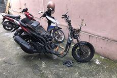 Penghuni Indekos Kaget Motornya Terbakar di Pinggir Jalan, Diduga Hendak Dicuri