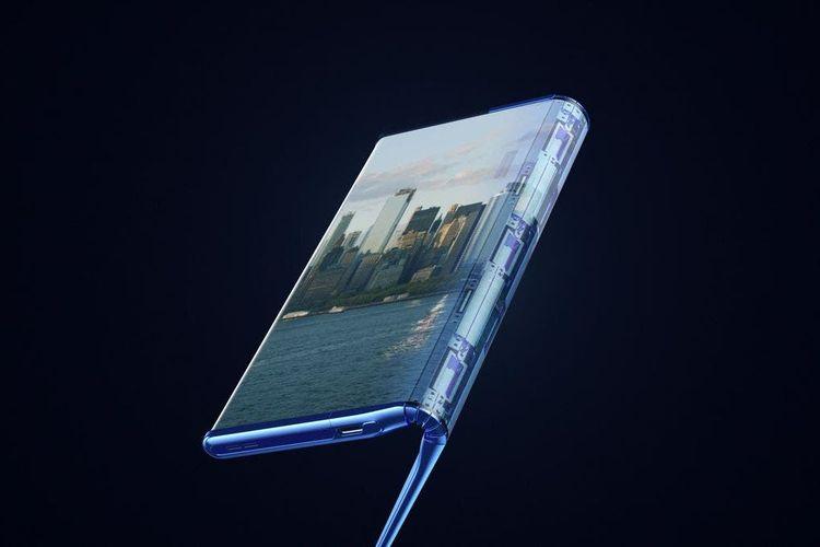 Prototipe ponsel dengan konsep Fold 'n Roll, bisa dilipat sekaligus digulung milik TCL.
