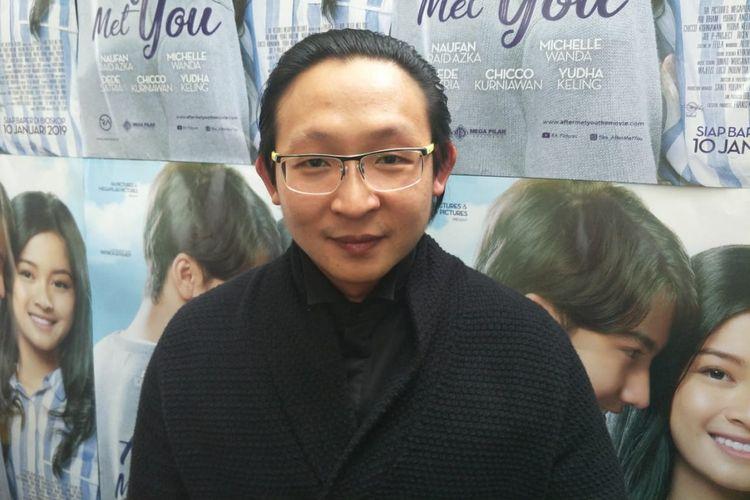Fransen Susanto saat ditemui usai screening dan jumpa pers film fter Met You di XXI Epicentrum, Kuningan, Jakarta Selatan, Sabtu (5/1/2018).