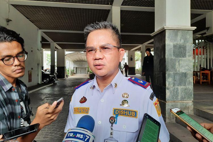 Kepala Dinas Perhubungan DKI Jakarta Syafrin Liputo, di Balai Kota, Jalan Medan Merdeka Selatan, Jakarta Pusat, Kamis (14/11/2019)