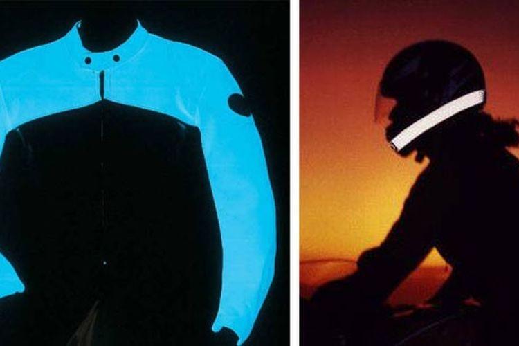 Usahakan memakai jaket warna terang atau bisa memantulkan cahaya di malam hari.