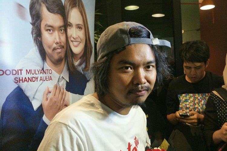 Dodit Mulyanto dalam jumpa pers film Cinta Itu Buta di kawasan Epicentrum, Kuningan, Jakarta Selatan, Senin (7/10/2019).