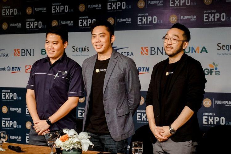 Konferensi pers pada Expo 5.0: Leading Through Innovation di Jakarta, Kamis (17/10/2019).