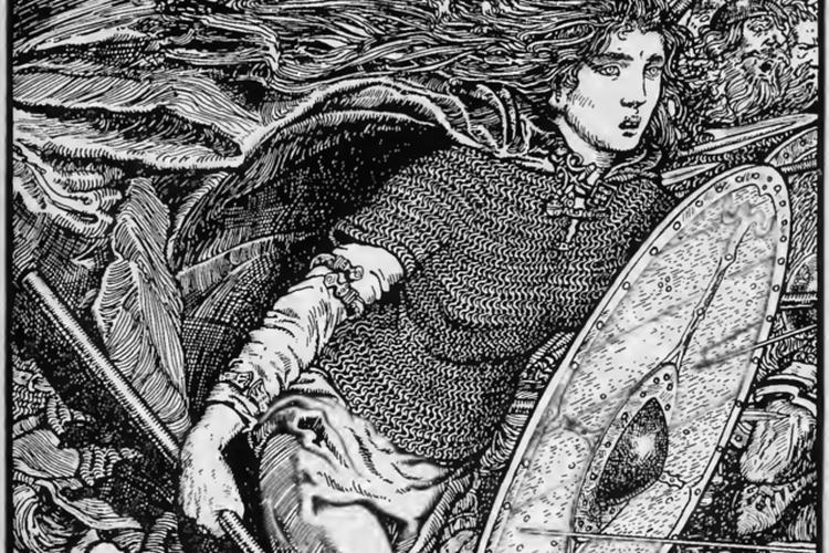 Ilustrasi Lagertha, salah satu legenda wanitia Viking. [Via Wikimedia Commons]