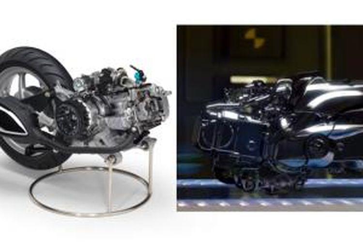 Mesin berteknologi Blue Core yang akan diinstal pada salah satu model skutik Yamaha.