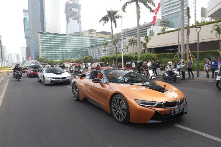 BMW i8 ikut ramaikan peresmian Formula E di Jakarta