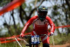 Atlet Downhill Putri, Tiara Andini Prastika, Raih Medali Emas