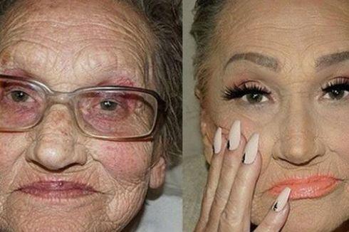 Gaya Riasan Wajah Glamour Sang Nenek Genit