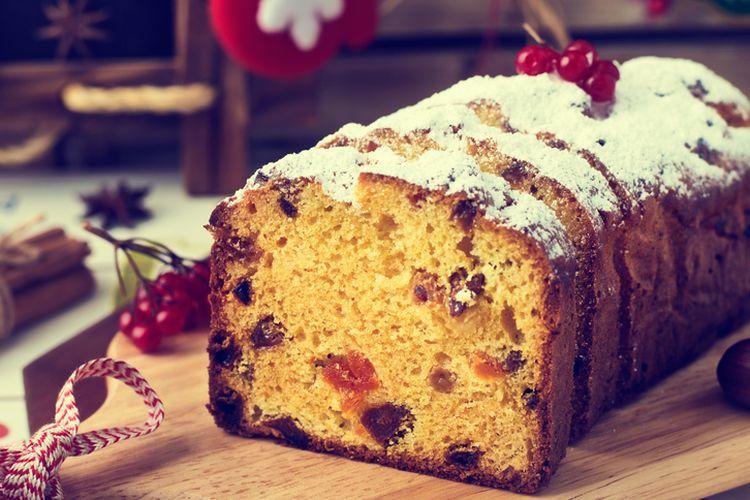 Stollen, kue khas Natal dari Jerman dan Austria.