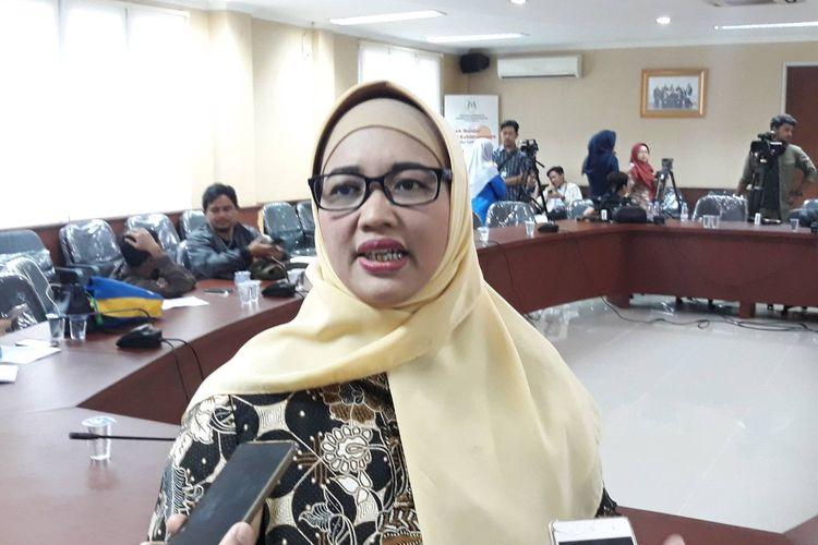Komisioner KPAI Retno Listyarti di kantor KPAI, Menteng, Jakarta Pusat, Kamis (26/9/2019).