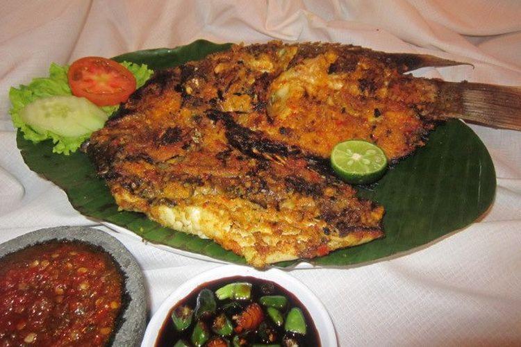 Salah satu menu di Dulang Restaurant, Cisarua, Bogor.