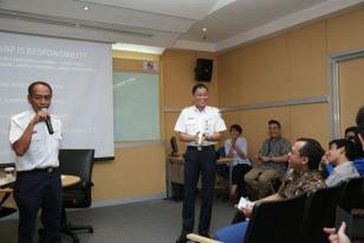 Dirut PT KAI Ignasius Jonan, dalam acara CEO Speaks yang diselenggarakan Universitas Bina Nusantara.