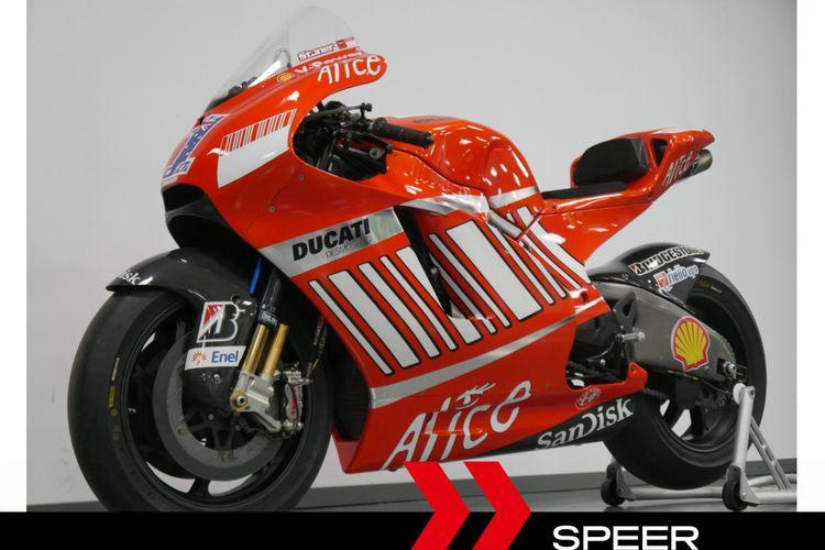 Ducati Desmosedici GP08 bekas tunggangan Casey Stoner dijual untuk umum.