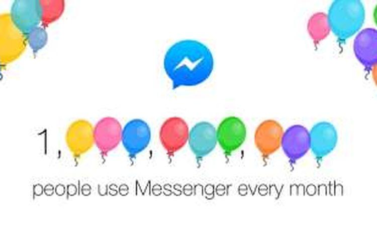 Pengguna aktif bulanan Facebook Messenger sudah 1 Miliar.