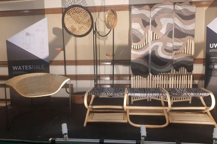Kursi dan furnitur rotan dalam workshop Rattan Model Making di LaSalle College, Jumat (17/1/2020)