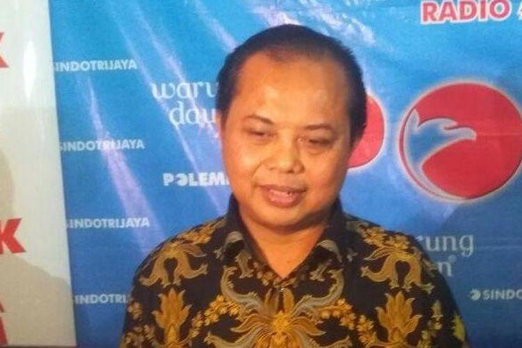 Ketua Komisi Pemilihan Umum (KPU) DKI Jakarta Sumarno dalam diskusi Kawal Pilkada DKI di Cikini, Jakarta Pusat, Sabtu (4/3/2017).