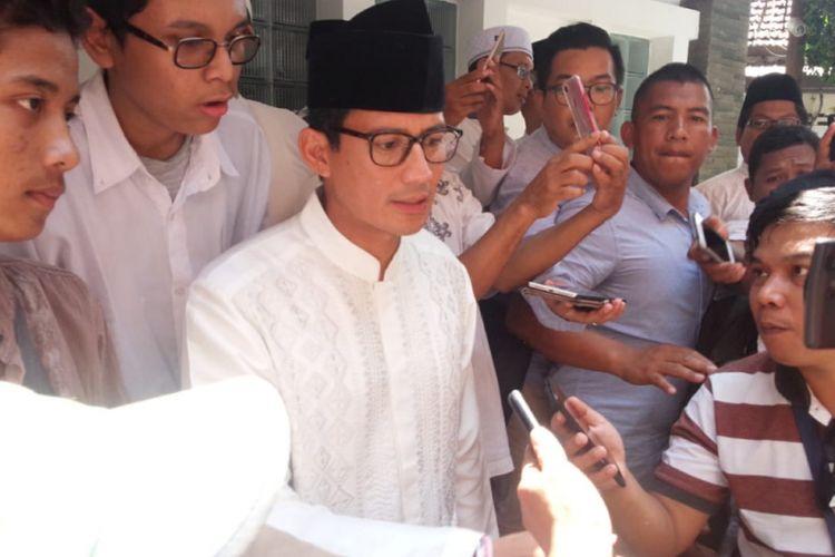 Calon Wakil Presiden RI Nomor urut 02, Sandiaga Uno, di Pesantren Tebuireng, Jombang, Senin (22/10/2018).