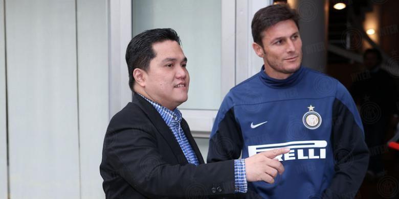 Erick Thohir saat menjadi Presiden Inter Milan, bersama Javier Zanetti