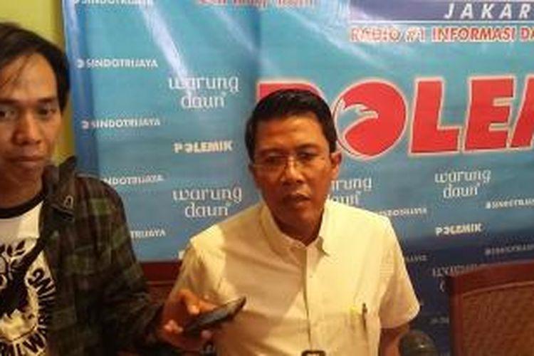 Politisi Partai Golkar Muhammad Misbakhun, saat ditemui seusai menjadi narasumber dalam diskusi di kawasan Cikini, Jakarta Pusat, Sabtu (9/5/2015).