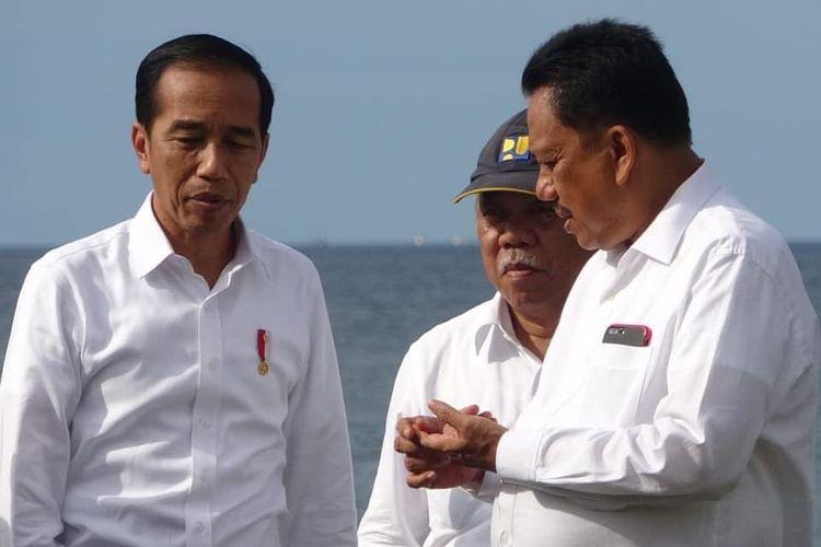 Gubernur Sulawesi Utara Olly Dondokambey dan Presiden Joko Widodo