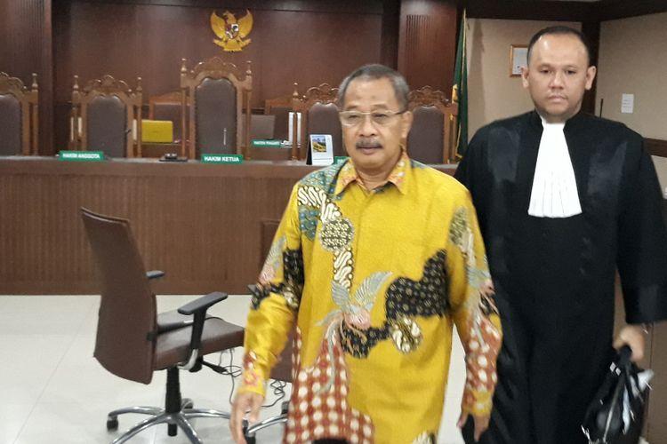 Ketua Pengadilan Tinggi Manado Sudiwardono menjadi terdakwa di Pengadilan Tipikor Jakarta, Rabu (28/2/2018).