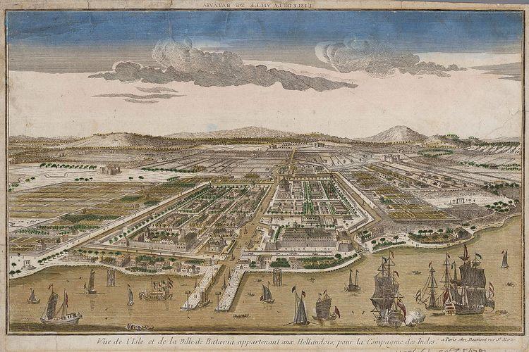 Gambar Batavia, ibu kota Hindia Belanda pada 1780.
