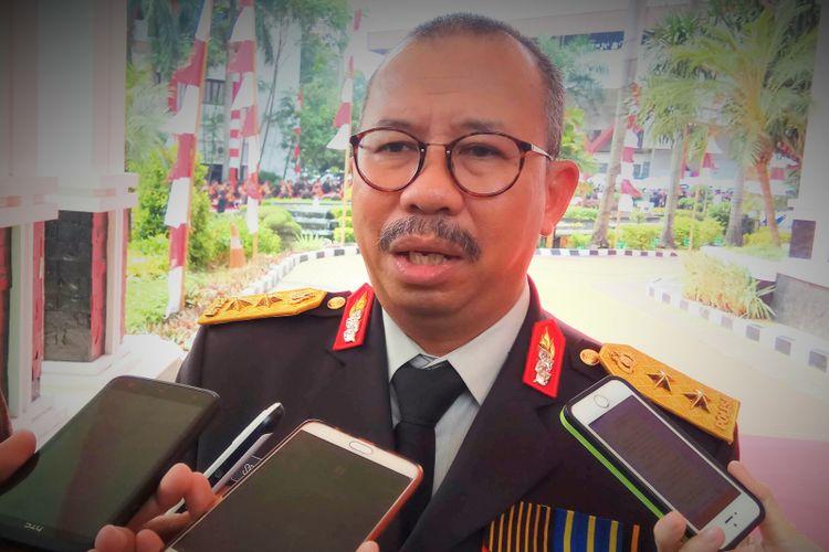 Kepala Divisi Humas Polri Irjen Setyo Wasisto saat menghadiri acara wisuda Purnawira Polri di Gedung PTIK, Jakarta Selatan, Rabu (9/8/2017).