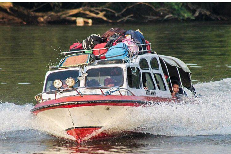 Alat transportasi masyarakat di Kabupaten Mahakam Ulu, Kalimantan Tengah